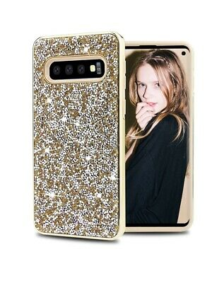 For Samsung Galaxy S10 Plus S10e Bling Rhinestone Shockproof 2 In 1 Case Cover