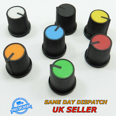 Plastic Sound Control Rotary Switch Knob 6mm for Potentiometer High 15mm Volume