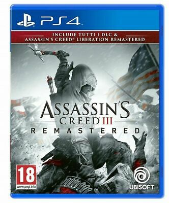 Assassin's Creed 3 + Assassins Creed Liberation Remastered Hd Ps4 Gioco Italiano