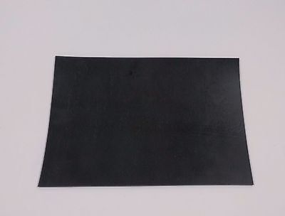 "1/16"" thick Neoprene Rubber Sheet 3"" x 5"" smooth Black FREE SHIPPING"