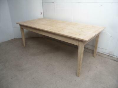 A Lovely Victorian Antique/Old Pine Painted Shabby Chic 10 Seater Kitchen Table