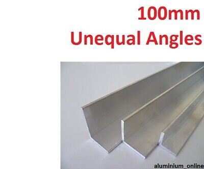 ALUMINIUM UNEQUAL ANGLE 100.0mm, 2 variations, lengths 100mm to 2500mm