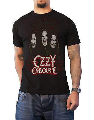 Ozzy Osbourne T Shirt Crows and Bars logo new Official Mens Black