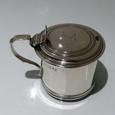 19th Century Antique William IV Antique Sterling Silver Mustard Pot London 1833