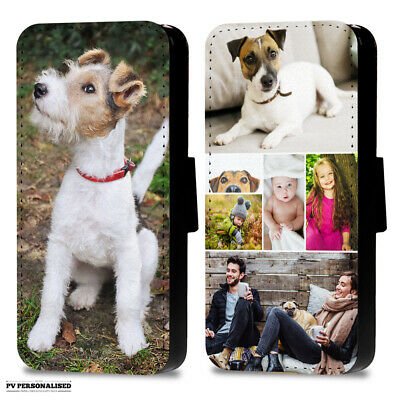 Personalised Photo Or Collage Flip Wallet Phone Case Cover For Apple Samsung