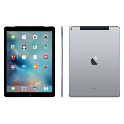 Apple iPad Pro 1st Gen. 128GB, Wi-Fi + Cellular (AT&T), 12.9in - Space Gray (A)