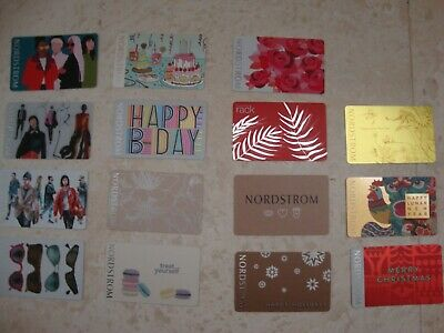 15 X Nordstrom Empty Gift Card Collectible $0 Value