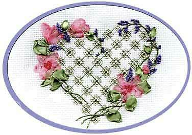 Panna Ribbon & beads & counted cross stitch embroidery Kit - L-0663 With my Soul