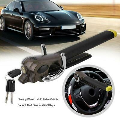 Foldable Vehicle Car Metal Steering Wheel Lock Anti Theft Airbag Security Tool