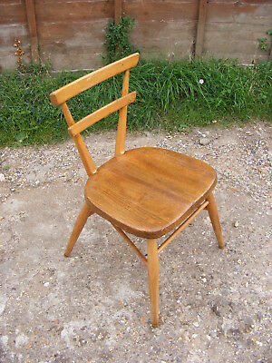 Mid Century Retro Old Vintage Ercol Red Dot Stacking School Kids Chair