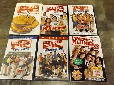 American Pie 1-8 The Complete Series Dvd Lot Of All 8 Films - Tested