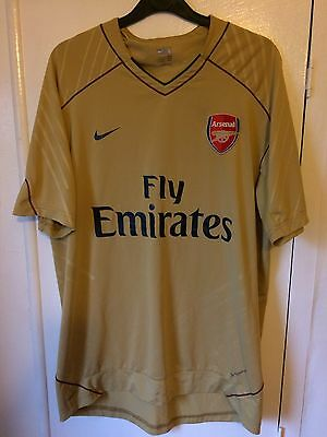 71e4b0253d4be 2011 2012 Arsenal home training football shirt large mens Nike Fly Emirates  rare