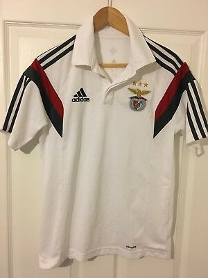 2014/2015 FC Benfica polo football shirt small men's Adidas Portugal rare SLB