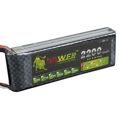 7.4V 25C 2200mAh 2S Lipo Battery T Plug For RC Drone Helicopter Car Boat
