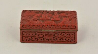 Antique Chinese carved cinnabar box,19thC