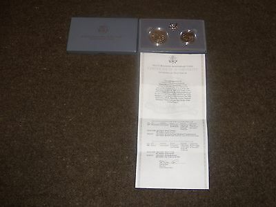 United States Mint. 1991 Mount Rushmore Two-Coin Uncirculated Set Dollar & Half