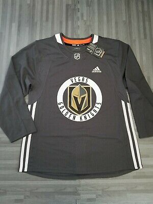 c7aa87326 Adidas NHL Las Vegas Golden Knights Climalite Practice Jersey Size 50 NWT