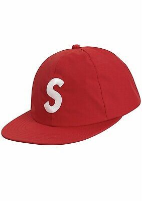 BRAND NEW Supreme Gore Tex S Logo 6 Panel RED New DS SS19 IN HAND! 4777e5208227