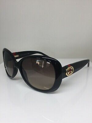 845cf1840f87a New Authentic GUCCI GG 3644 SUNGLASSES GG3644 S C. D28ED Shiny Black with  Gold