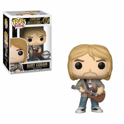 Funko POP Vinyl Rock ! Kurt Cobain  with sweater MTV - #67 - Nirvana - Limited