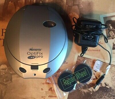 Memorex Optifix Pro 32028007 CD Cleaning Repair Machine & Adapter