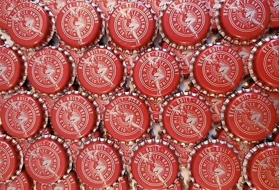 100 Red Old Milwaukee Beer Bottle Caps (No Dents)