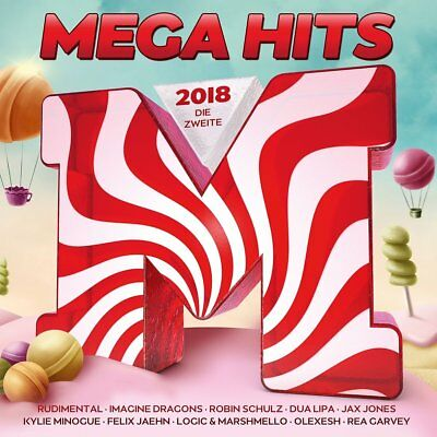 MEGAHITS 2018-DIE ZWEITE Chainsmokers,Rudimental,Sia,Dua Lipa  2 CD NEW