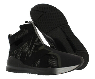 PUMA FIERCE SWAN Womens Slip On Black Mesh Dance Trainers 189885 01 ... 756a3945e