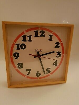 Vintage Retro Salter Cordless Wall Clock Made In The Republic Of Ireland