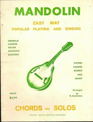 Vintage Mandolin Easy Way Chords & Solos Popular Playing And Singing lessons