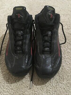 4bf1739516 NIKE SHOX KEN Griffey Jr. G7 Shoes Black & Red Leather VTG 1997 Size ...