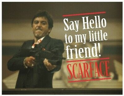 Scarface Say Hello Glass Poster 40X30 cm [New Misc] Decor