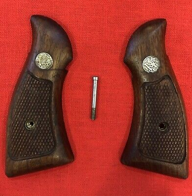 FACTORY SMITH AND Wesson J-Frame Round Butt Wood Grips USED - $19 50