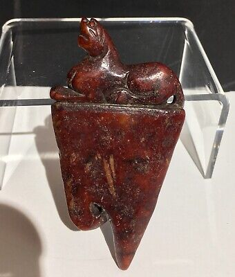 A Rare Archaic Chinese Shang - Western Zhou Dynasty Red Nephrite Jade Dagger