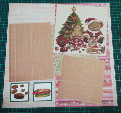 Scrapbooking 12x12 Pre Made Hand Made DOUBLE Page CHRISTMAS #1