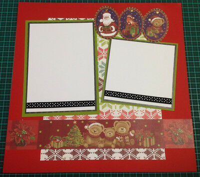 Scrapbooking 12x12 Pre Made Hand Made DOUBLE Page CHRISTMAS #2