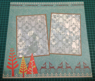 Scrapbooking 12x12 Pre Made Hand Made DOUBLE Page CHRISTMAS #3