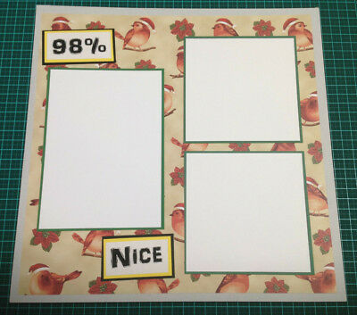 Scrapbooking 12x12 Pre Made Hand Made DOUBLE Page CHRISTMAS #4