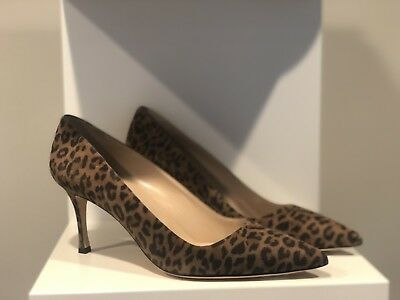 3d1b5564ff9d NEW MANOLO BLAHNIK BB Leopard Brown   Black Suede High Heels Pumps Animal 40