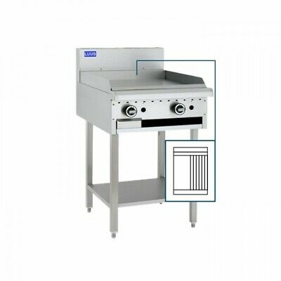 LUUS Essentials 300mm Griddle 300mm Chargrill Char Grill Combination BCH-3P3C NG