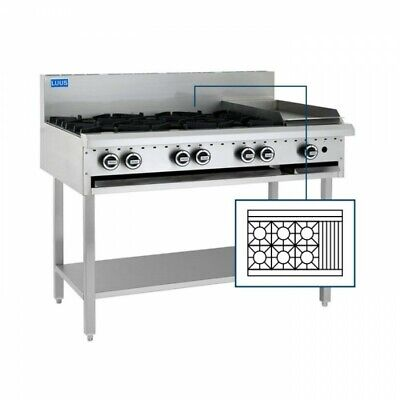 LUUS Essentials 6 Burner 300mm Chargrill Char Grill Cooktop BCH-6B3C NG