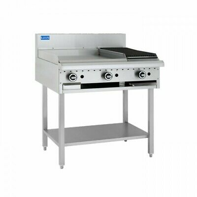 LUUS Essentials 600mm Griddle 300mm Chargrill Char Grill Combination BCH-6P3C NG