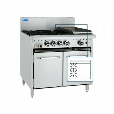 LUUS Essentials 2 Burner 600mm Griddle Flat Top Hot Plate & Oven CRO-2B6P NG