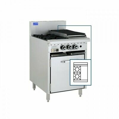 LUUS Essentials 2 Burner 300mm Griddle Flat Top Hot Plate & Oven CRO-2B3P NG