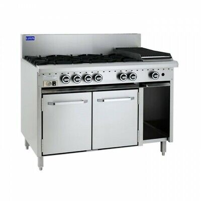 LUUS Essentials 6 Burner 300mm Chargrill Char Grill & Oven CRO-6B3C NG