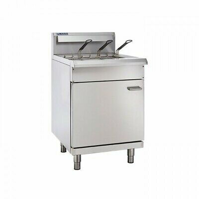 LUUS Professional 3 Basket Single V Pan Gas Commercial Kitchen Fryer FV-60 NG
