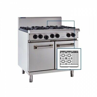 LUUS Professional 4 Burner 300mm Chargrill Char Grill & Oven RS-4B3C NG