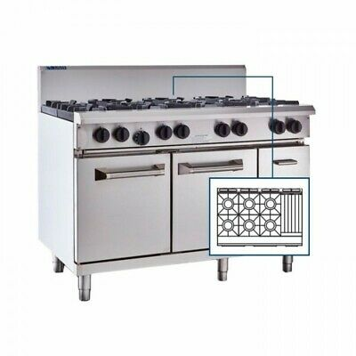 LUUS Professional 6 Burner 300mm Chargrill Char Grill & Oven RS-6B3C LPG