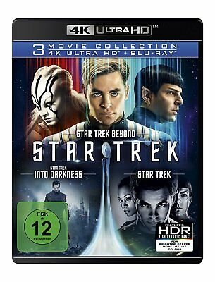 Star Trek 3-Movie Collectionx (3 4K Uhd+ 3 Bluray)  6 Ultra Hd Blu-Ray New