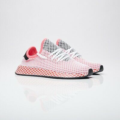 new styles c7402 b2fee Adidas Originals Deerupt Runner W Pink Red White Womens Size 6 Sneakers  Cq2910